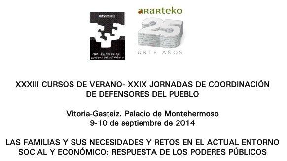 Imagen XXIX Jornadas de Coordinación de Defensores del Pueblo - Vitoria, Septiembre 2014